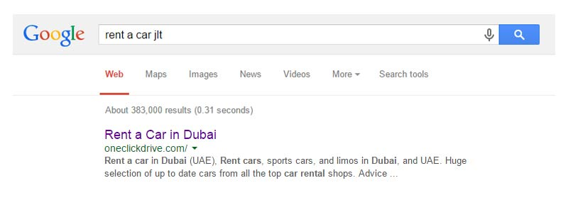 Rent a car in JLT, Dubai