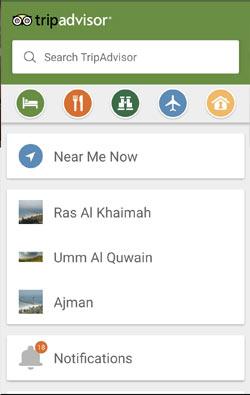 trip advisor app screenshot