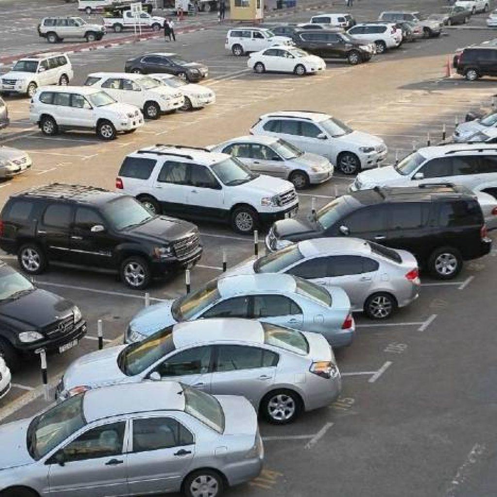 cars parked in Dubai UAE