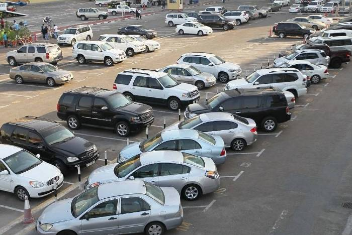 cars parked in Dubai UAE
