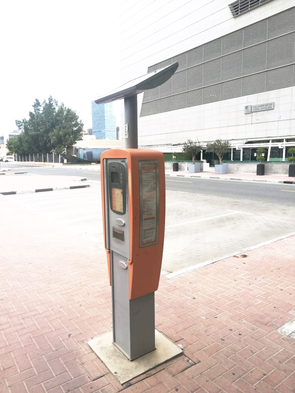 Solar-power RTA Parking Meter