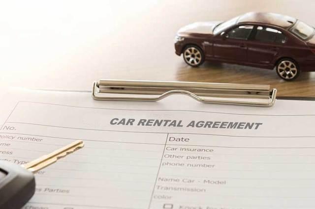 car rental agreement document