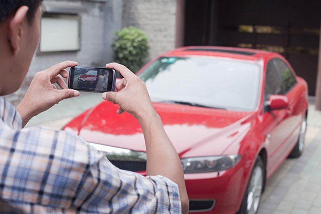 Record car dents scratches before renting a car